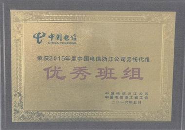 2015年度中国电信浙江公司无线代维优秀班组